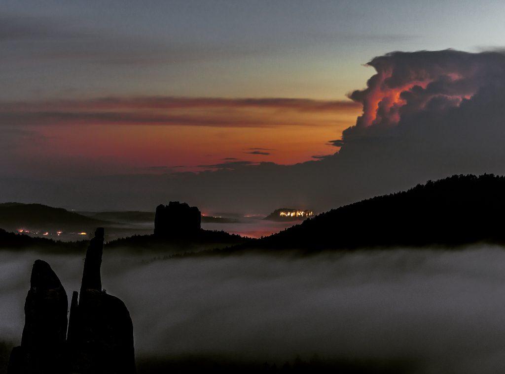 Festung Königstein Wetterleuchten